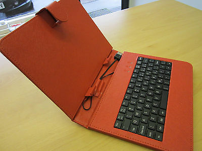 Red USB Keyboard Case/Stand For Sumvision Cyclone Voyager 8 Inch Android Tablet • 12.99£