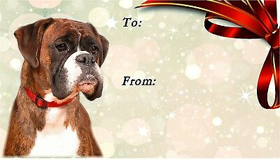 Boxer Dog Self Adhesive Gift Labels (42) By Starprint  • 3.15£