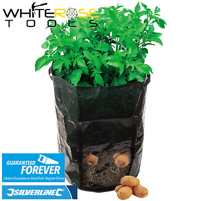 1, 2 Or 4 Silverline Potato Planting Bags 360 X 510mm Garden Growing Seeds • 5.95£