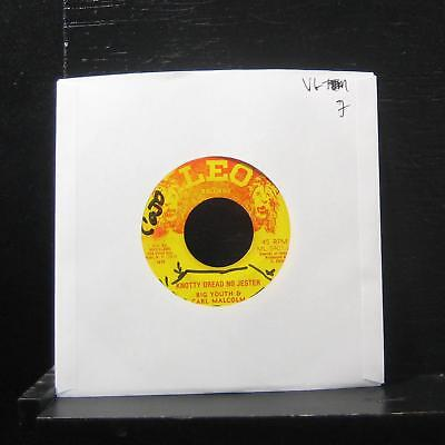 Big Youth & Carl Malcolm - Knotty Dread No Jester 7  VG Vinyl Leo Records • 2.53£