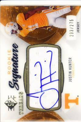 $14.99 • Buy Justin Hunter Rc Rookie Draft Auto Jersey Patch Tennessee Vols College #/275 13