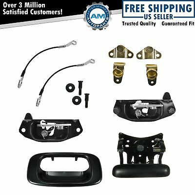 $89.60 • Buy Tailgate Hinge Latch Striker Handle Cable Kit Set For Chevy GMC Silverado Sierra