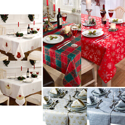 Christmas Tablecloths, Table Runner, Napkins Or Cushions • 13.99£