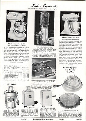 1939 PAPER AD Kitchen Aid Electric Food Mixer Neptune Outboard Motor 16 9 6 HP • 7.41£