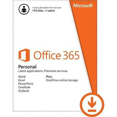 AU186.39 • Buy Office 365 Personal Subscription W/ Word, Excel, Powerpoint, Onenote & Outlook