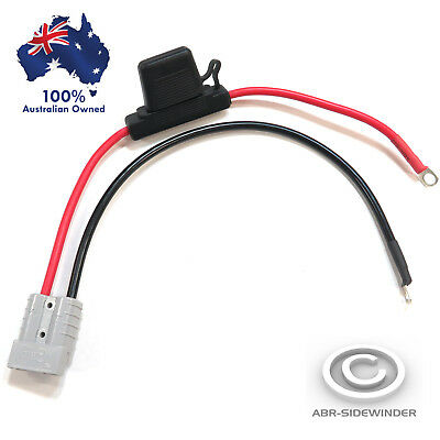 AU25.95 • Buy FUSED Anderson Lead 50amp Plug To 8mm Lugs, 8 B&S Cable Lead 38cm