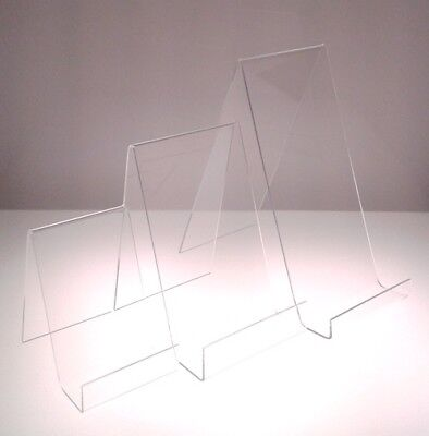 £7.34 • Buy Book Display Plate Stand Clear Acrylic Perspex® Small Medium Large Displays