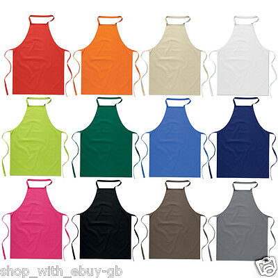 £6.99 • Buy Cotton Kitchen Cooking Catering Cute Plain Unisex Apron Dress Variety Of Colours