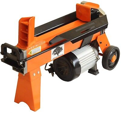 Electric 5 Ton Hydraulic Log Splitter Fast Wood Timber Cutter 2200 W Of Power • 286.90£