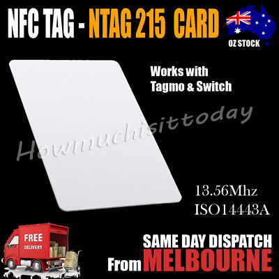 AU14.95 • Buy NTAG215 NFC Card Tag For TagMo Forum Switch Type2 Sticker Tags Chip