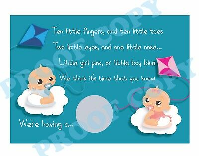 £3.90 • Buy GENDER REVEAL SCRATCH CARD Baby Shower New Addition Boy Or Girl Pack Of 12