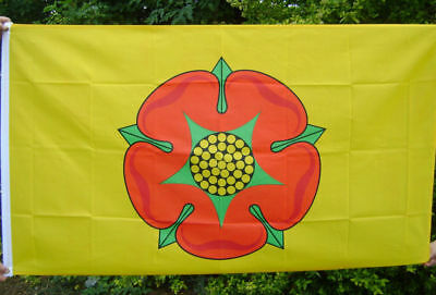 NEW 5 X 3 FOOT (150x90cm) NEW LANCASHIRE RED ROSE COUNTY FLAG. • 5.67£