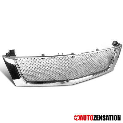 $106.91 • Buy For 02-06 Cadillac Escalade Chrome Mesh Style Front Bumper Hood Grill Grille
