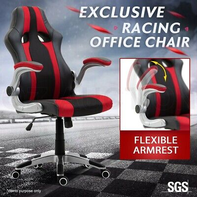 AU119.95 • Buy Executive PU Leather Gaming Racing Office Chair Ergonomic Computer Desk Seat Red