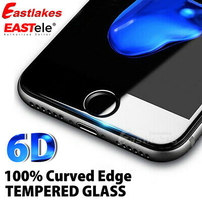 AU7.95 • Buy For Apple IPhone 8 7 Plus EASTele 6D Full Cover Tempered Glass Screen Protector