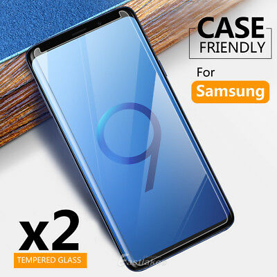 AU3.95 • Buy 2x For Samsung Galaxy S9 S8 Plus Note 9 8 S7 S5 Tempered Glass Screen Protector