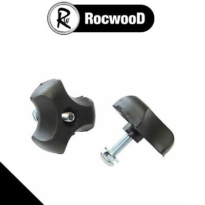 £4.79 • Buy Lawnmower Handle Wing Nut And Bolt 8mm Bolts Pair Of (2) Universal