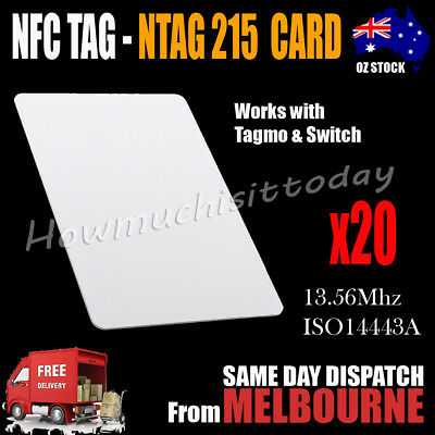 AU24.95 • Buy 20x NTAG215 NFC Card Tag For TagMo Forum Switch Type2 Tags Chip