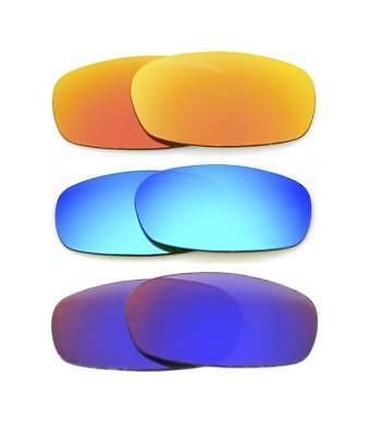 5954d59b9d New Polarized Custom Fire blue red Lens For Oakley Square Wire 2.0  Sunglasses •