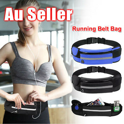 AU7.85 • Buy Running Bum Bag Fanny Pack Travel Waist Bags Money Zip Belt Pouch Sports Wallet