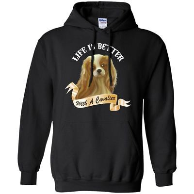 £28.03 • Buy Life Is Better With A Cavalier Pullover Hoodie 8 Oz