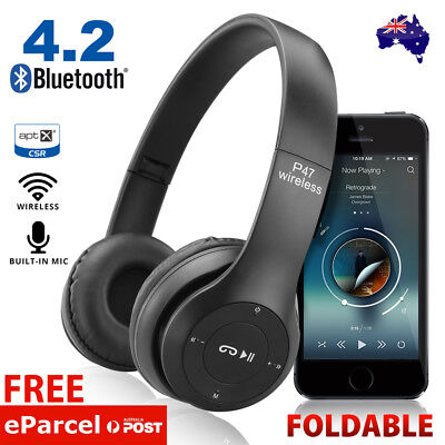 AU19.95 • Buy Noise Cancelling Wireless Headphones Bluetooth 4.2 Earphone Headset With Mic Hot