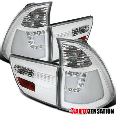 $170.99 • Buy For 2000-2006 BMW X5 LED Clear Lens Tail Lights Brake Lamps W/ Neon Tube DRL
