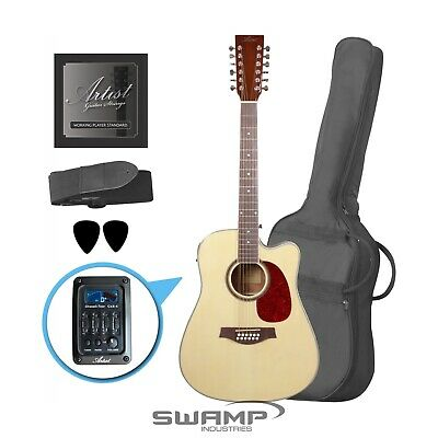AU269 • Buy 12 String Acoustic Electric Guitar Pack With Built-in Tuner EQ