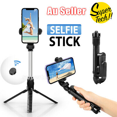 AU14.75 • Buy Unipod Selfie Stick Handheld Tripod Bluetooth Shutter For IPhone 11 Pro Samsung