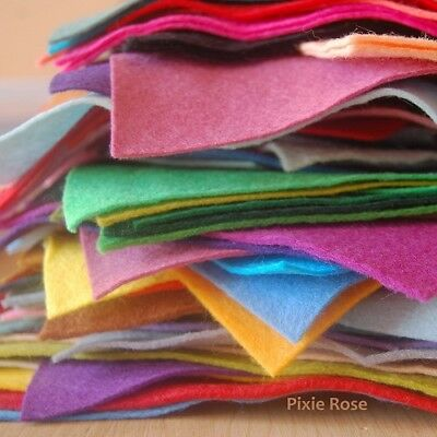 £3.45 • Buy Pack Of Wool Blend Felt Pieces / Offcuts | 14 - 16 Pieces Of Felt Per Pack | 50g