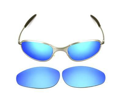 314895ac4a6 New Polarized Custom Ice Blue Lens For Oakley A Wire Thick Sunglasses •  31.29
