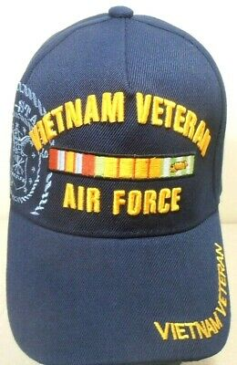 5d04746859e89 Military Cap Air Force Vietnam Veteran Navyblue Hat With Shadow And Ribbons  • 8.50