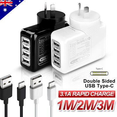 AU16.45 • Buy Genuine USB AC Wall Charger Type-C Cable For Samsung S10 S9 S8 Plus Note 10 9 8