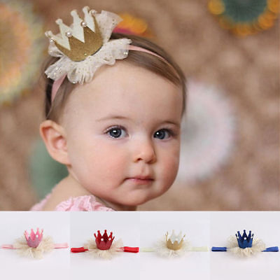 $0.99 • Buy Kids Baby Girl Toddler Lace Crown Cute Hair Band Headwear Headband Accessories
