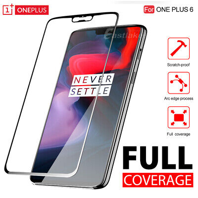 AU3.95 • Buy 5D Full Coverage Tempered Glass Screen Protector Guard For OnePlus 6