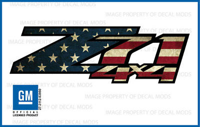 AU24.51 • Buy Set Of 2: 2007-2013 Z71 4x4 Decals Stickers Bed Side American Flag Worn FWFLAG