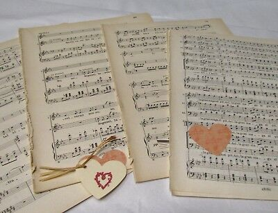 £3.99 • Buy **20 Sheets Vintage Manuscript Music Paper, Decoupage, Art Projects, Crafting**