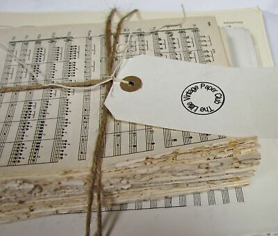 £12.50 • Buy 1kg Vintage Sheet Music Paper For Art Craft Decoupage Cards. Good Variety. Cream