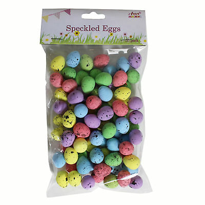 Easter Arts Craft Decorations Egg Hunt - 06477 - 80 Pack Mini Speckled Eggs • 2.98£
