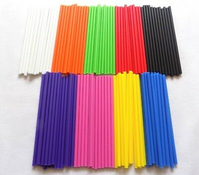 £2.35 • Buy Coloured Plastic Lollipop  Cake Pop  Craft Sticks 4.5  (114mm)