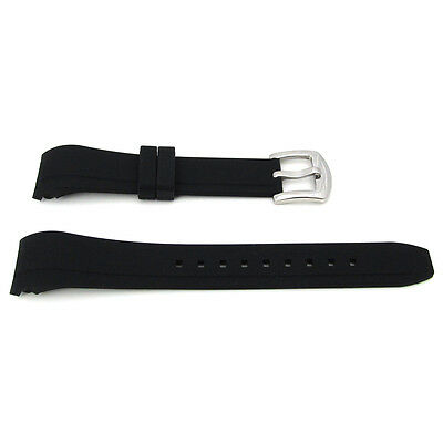 For OMEGA ROLEX Silicone CURVED ENDED Rubber Watch Strap 20mm X 16mm S34A • 15.99£