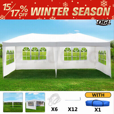 AU149.95 • Buy OGL 3x6M Party Wedding Outdoor Tent Marquee Shade Canopy Camping Gazebo 4 Walls