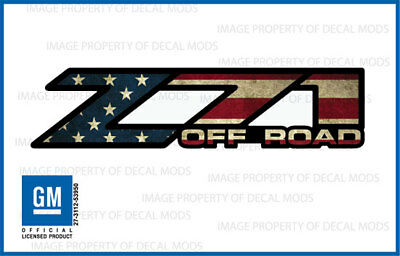 AU24.51 • Buy Z71 Off Road Decals Stickers 2004 2005 2006 Truck Bed American Flag Worn FWFLAG