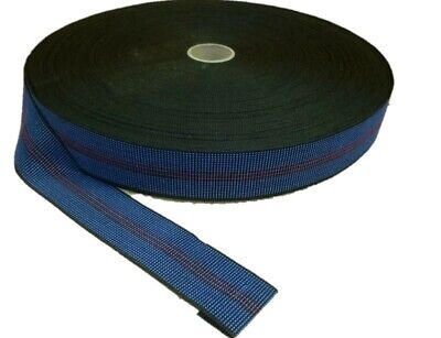 £7.99 • Buy 10 Metres - BLUE 2  Elastic Upholstery Webbing For Chairs, Seats & Furniture