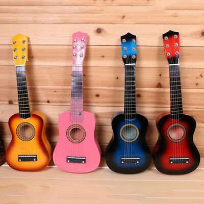 21  Kids Acoustic Guitar Wooden Beginners 6 String Practice Children Toys Gifts • 12.88£