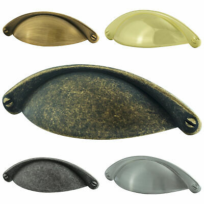 Hausen Kitchen Cupboard Wardrobe Drawer Cup Shell Half Moon Pull Handles • 1.99£
