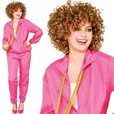 £13.99 • Buy Ladies 80s Shell Suit Costume Scouser Tracksuit Adult Womens Fancy Dress New