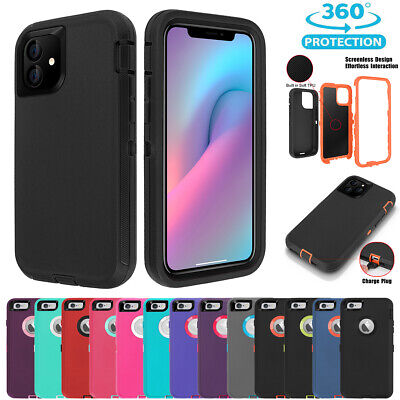 AU10.89 • Buy IPhone 11 Pro XS Max XR X 8 7 6s Plus Case Hybrid Shockproof Armor Rubber Cover