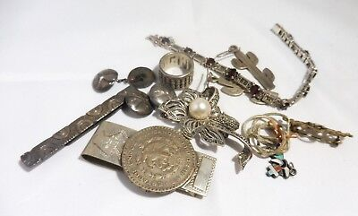 $ CDN141.01 • Buy Mixed Lot Of Sterling Silver Jewelry And Oddities 75 Dwt