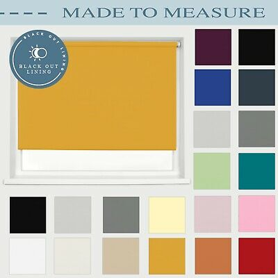 Made To Measure Blackout Roller Blinds Custom Made Sizes Up To 240cm Wide • 38.99£